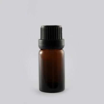 Φιάλη Γυάλινη DIN 18 Καραμελέ/ Μαύρο Πώμα 10ml