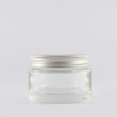 Βάζο Γυάλινο Διάφανο/ Πώμα Αλουμινίου 50ml