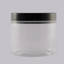 Βάζο Pet 200ml Black Plastic Lid