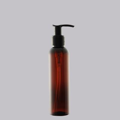 Boston Tall Φιάλη Πλαστική AMBER/ Μαύρη Αντλία Dispenser 150ml
