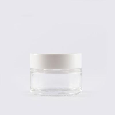 Βάζο Γυάλινο Διάφανο/ Λευκό Πώμα 30ml