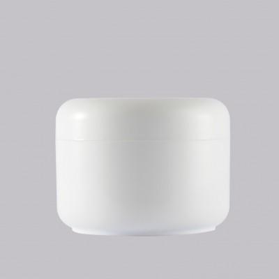 Βάζο Πλαστικό Διπλότοιχο Λευκό 100ml