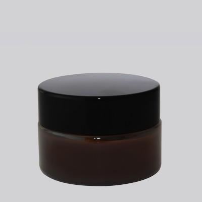 Βάζο Γυάλινο Καραμελέ/ Μαύρο Πώμα 20ml