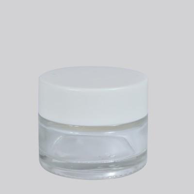 Γυάλινο Βάζο Λευκό Πώμα 15ml