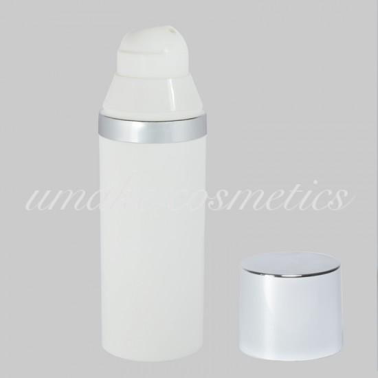Φιάλη Πλαστική Airless LUX/ Ασημένιο Πώμα 50ml