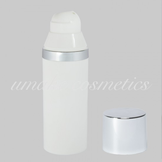 Airless Φιάλη Λευκή με Ασημένιο Πώμα LUX -50ml