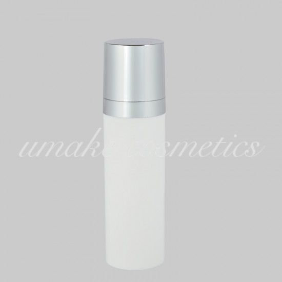 Airless Φιάλη Λευκή με Ασημένιο Πώμα LUX -30ml