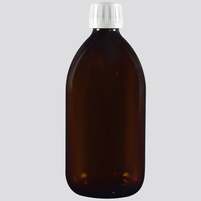 Φαρμακευτική Φιάλη Γυάλινη Καραμελέ 500ml