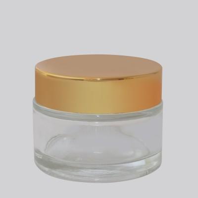 Βάζο Γυάλινο Διάφανο/ Χρυσό Πώμα 50ml