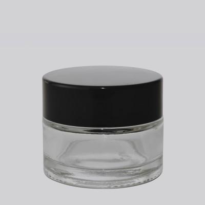 Βάζο Γυάλινο Διάφανο/ Μαυρο  Πώμα 30ml