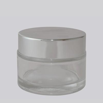 Βάζο Γυάλινο Διάφανο/ Ασημένιο Πώμα 50ml