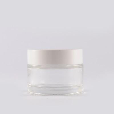 Βάζο Γυάλινο Διάφανο/ Λευκό Πώμα 50ml
